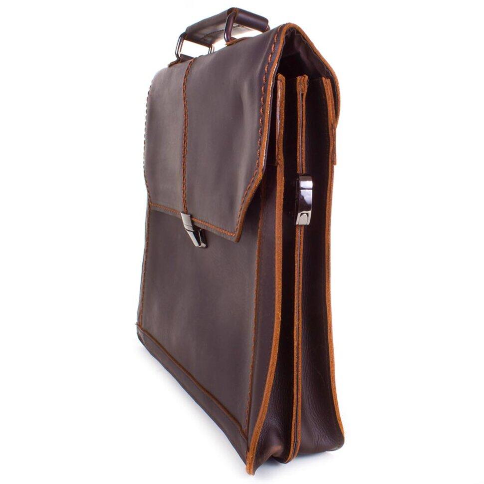 8f917e2cebf5 Мужской кожаный портфель с карманом для ноутбука 12,6' ETERNO (ЭТЭРНО)  ET20621