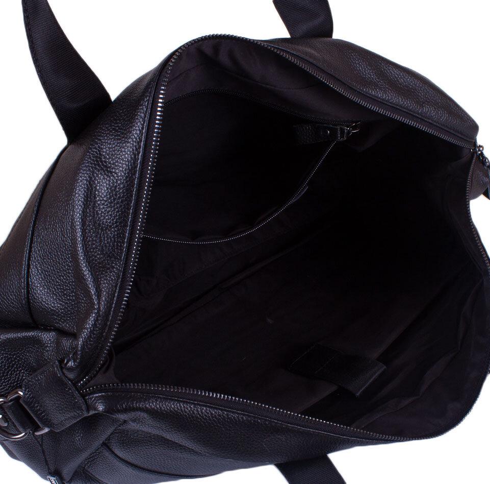 fad954c9a78d Мужская кожаная дорожная сумка с карманом для ноутбука TOFIONNO (ТОФИОННО)  TU8699-black