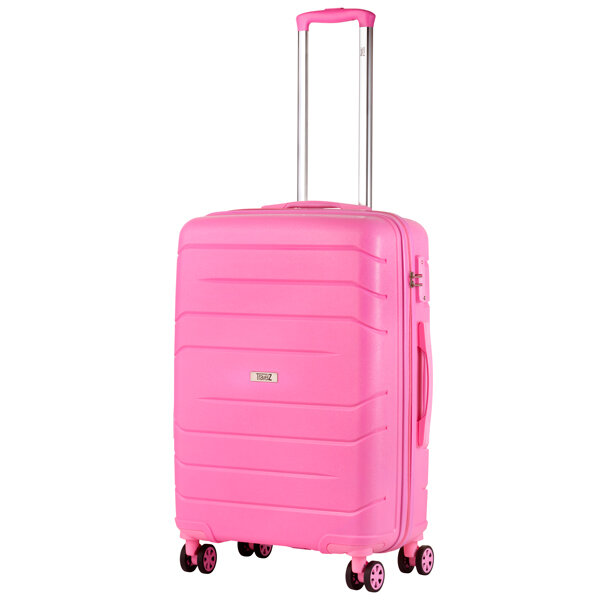 Чемодан TravelZ Big Bars (M) Pink