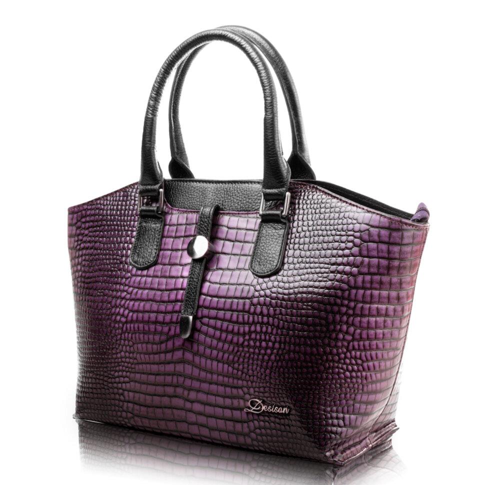 0cdf4415fbd6 Женская кожаная сумка DESISAN (ДЕСИСАН) SHI2945-631 купить в ...