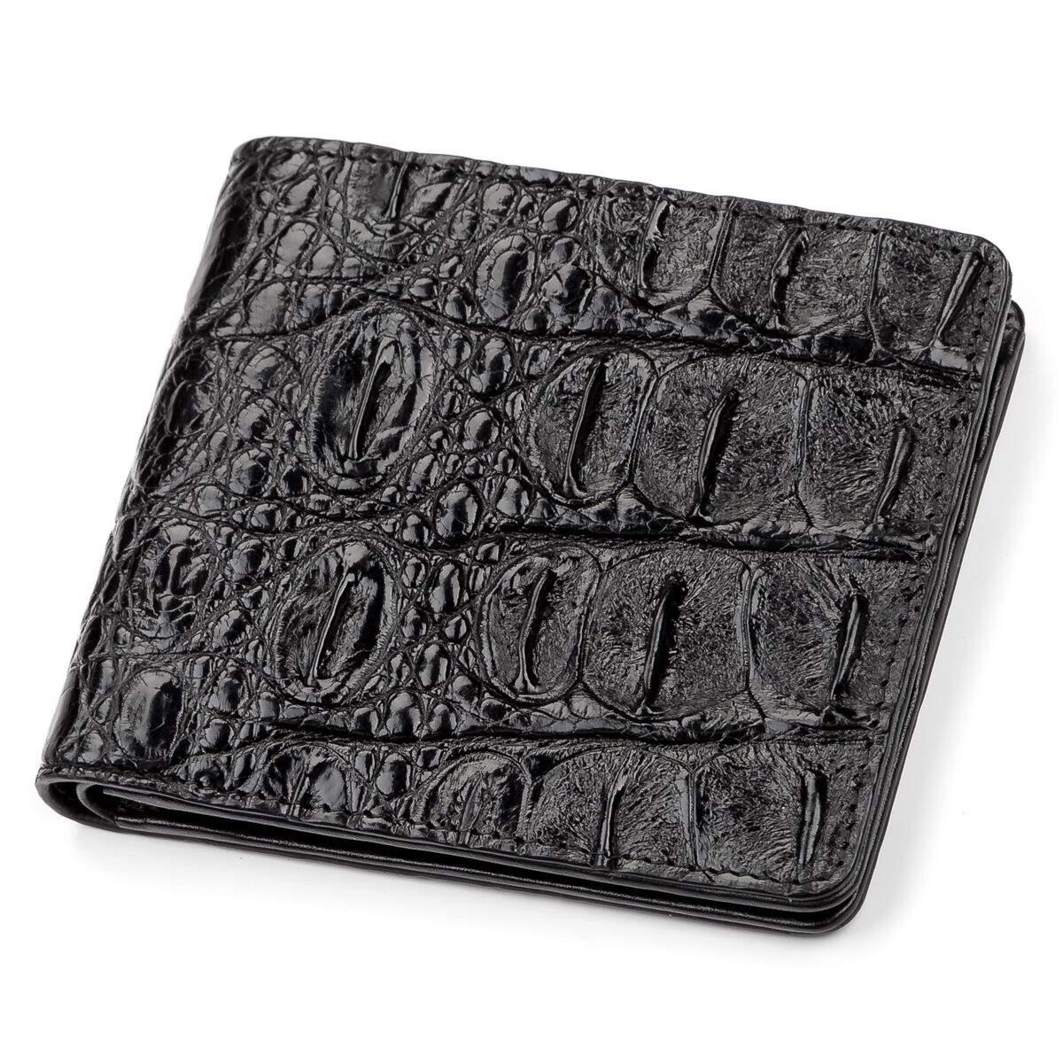 663e5faf41dd Портмоне CROCODILE LEATHER 18045 из натуральной кожи крокодила Черное
